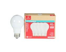 A19 Halogen Light Bulbs 29 W (4-Pack)