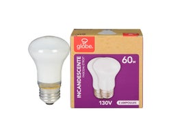 R16 Incandescent Reflector Light Bulbs 60 W (2-Pack)