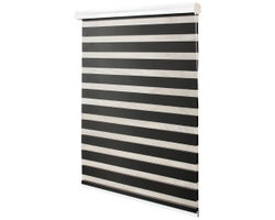 Alternating Strip Roller Blind 27 in. x 84 in. Black