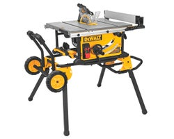 Worksite Table Saw with Rolling Stand 10 in.