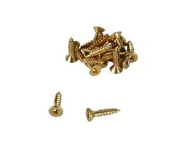 Brass Flat Head Wood Screws 5/8 in. #6 (18-Pack)