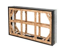 Cadre pour fenêtre de fondations 56 po x 32 po x 8 po (2 sections)