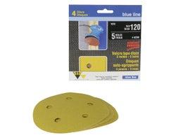 Sanding Discs , 5 in. #120 (4-Pack)
