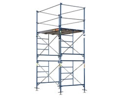 Saferstack Scafold Tower with Screw Jack , 5 ft. x 7 ft. x 10 ft.