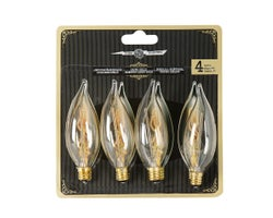 Vintage CA10 Incandescent Light Bulbs 25 W , (4-Pack)