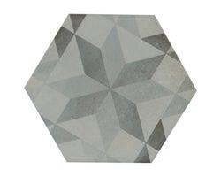 Porcelaine à plancher et murale Madelaine hexagonale 7 po x 7 po