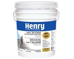Enduit 100% silicone pour toiture  Henry487 blanc 18,93L