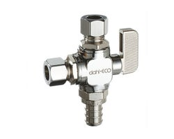 Dual Outlet Valve 1/2 in. PEX x 3/8 in. Comp. X 3/8 in. Comp.