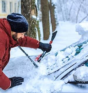 Automobile prêts pour l'hiver